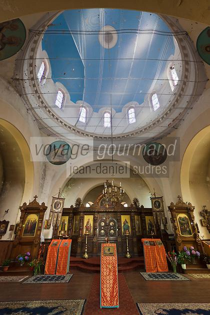 Europe/France/Aquitaine/64/Pyrénées-Atlantiques/Pays-Basque/Biarritz: Intérieur de L'église orthodoxe russe, construite en 1892 sur le domaine impérial