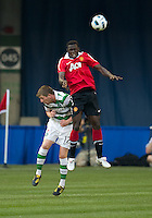 July 16, 2010  Mark Wilson No. 12 of Celtic FC and Mame Biram Diouf No. 32 of Manchester United during an international friendly between Manchester United and Celtic FC at the Rogers Centre in Toronto.