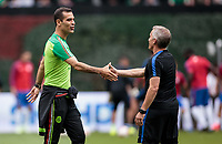 Mexico City, Mexico - Sunday June 11, 2017: Rafael Marquez, Ritchie Williams  during a 2018 FIFA World Cup Qualifying Final Round match with both men's national teams of the United States (USA) and Mexico (MEX) playing to a 1-1 draw at Azteca Stadium.