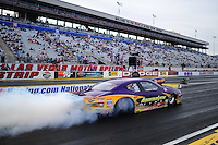 Mar. 30, 2012; Las Vegas, NV, USA: NHRA pro stock driver Vincent Nobile during qualifying for the Summitracing.com Nationals at The Strip in Las Vegas. Mandatory Credit: Mark J. Rebilas-