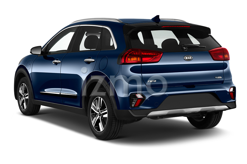 Car pictures of rear three quarter view of 2020 KIA Niro-phev Sense 5 Door SUV Angular Rear