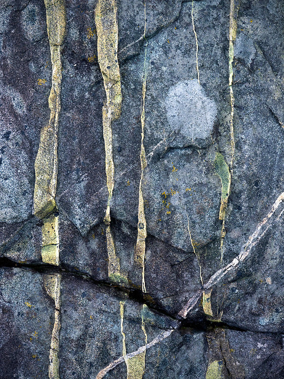 Abstract view of a granite rock formation along the shoreline on the Schoodic Peninsula in Acadia National Park, Maine, USA