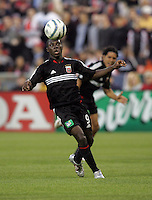7 May 2005.  DC United's Freddy Adu (9) takes control of the ball at RFK Stadium in Washington, DC.