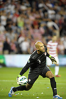 U.S gaolkeeper Tim Howard rolls the ball out..USMNT defeated Guatemala 3-1 in World Cup qualifying play at LIVESTRONG Sporting Park, Kansas City, KS.