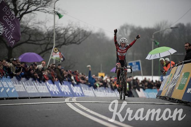 Sophie de Boer (NLD/Kalas-NNOF) wins Grand Prix Adrie van der Poel<br /> <br /> Hoogerheide 2016<br /> UCI CX World Cup