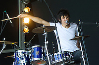 MADRID (06/06/2010).- Rafael Cebrian drummer of 'The Monomes' during concert at Rock in Rio in Madrid. Rafael is supposed to be new boyfriend of Harry Potters actress Emma Watson...Photo: Cesar Cebolla / ALFAQUI