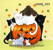Kate, CUTE ANIMALS, LUSTIGE TIERE, ANIMALITOS DIVERTIDOS, halloween, paintings+++++Halloween 3,GBKM465,#ac#, EVERYDAY