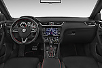 Stock photo of straight dashboard view of a 2014 Skoda Octavia 2.0 CRTDI 135kw DSG6 RS 5 Door Wagon 2WD Dashboard
