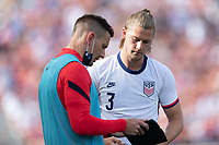 SANDY, UT - JUNE 10: Aron Hyde, Walker Zimmerman of the United States during a game between Costa Rica and USMNT at Rio Tinto Stadium on June 10, 2021 in Sandy, Utah.