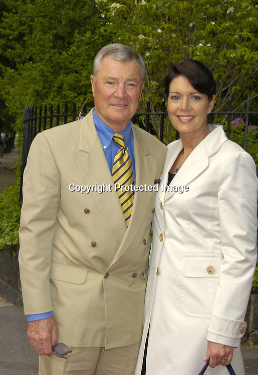 Don Hastings and wife Leslie ..at the Pre Daytime Emmy Awards Party at Gracie Mansion on May 19, 2005. ..Photo by Robin Platzer, Twin Images