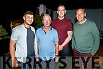 Enjoying the Gallys Golf Society BBQ in Gallys on Saturday. L to r: Cian O'Brien, Patrick White, John Higgins and Mike Bowler.