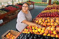 Lisette Flores of Pure Nelida Farm, at Viva Farms, in Burlington, Wash. on September 24, 2012.  (photo by KarenDucey.com)