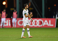 LAKE BUENA VISTA, FL - AUGUST 01: Diego Valeri #8 of the Portland Timbers celebrates his goal during a game between Portland Timbers and New York City FC at ESPN Wide World of Sports on August 01, 2020 in Lake Buena Vista, Florida.