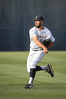 Blake Quinn (53) of the Cal State Fullerton Titans throws before a game against the University of San Diego Toreros at Goodwin Field on April 5, 2016 in Fullerton, California. Cal State Fullerton defeated University of San Diego, 4-2. (Larry Goren/Four Seam Images)