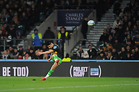 Marcus Smith of Harlequins kicks a penalty during Big Game 12 in the Gallagher Premiership Rugby match between Harlequins and Leicester Tigers at Twickenham Stadium on Saturday 28th December 2019 (Photo by Rob Munro/Stewart Communications)