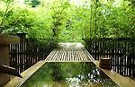 Wooden bathtub at Higuchi Ryokan in Arifuku Onsen. Shimane. Japan.<br /> <br /> Baignoire en bois au Higuchi Ryokan à Arifuku Onsen. Shimane. Japon.