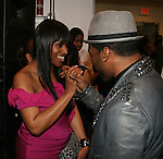 Amoy Pitters and Fashion Stylist Atiba Newsome attend Celebrity Hairstylist Amoy Pitters & Host Joy Bryant Celebrate The Opening of Amoy Couture Hair Salon with Music by DJ Cassidy, New York, 2/16/10