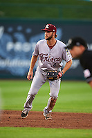 Frisco RoughRiders shortstop Beamer Weems (4) during a game against the Springfield Cardinals  on June 4, 2015 at Hammons Field in Springfield, Missouri.  Frisco defeated Springfield 8-7.  (Mike Janes/Four Seam Images)