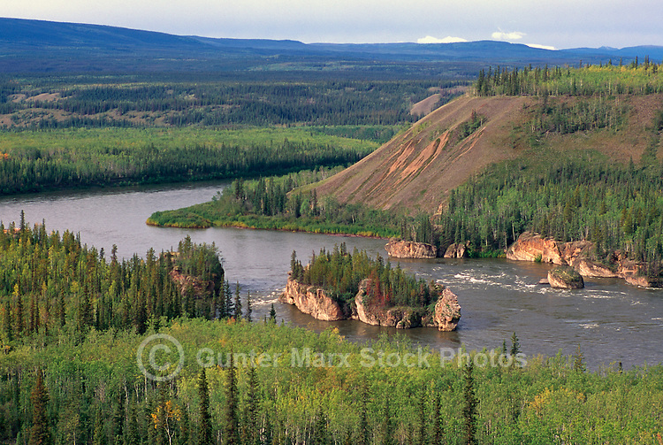 "Yukon Territory, YT, Canada - ""Five Finger"" Rapids in Yukon River, near Carmacks"