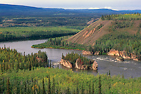 "Yukon Territory, YT, Canada - ""Five Finger"" Rapids in Yukon River, near Carmacks"