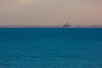 France, Ille-et-Vilaine (35), côte d'émeraude, Cancale, vue sur baie du Mont Saint-Michel // France, Ille et Vilaine, cote d'emeraude (Emerald Coast), Cancale, view over  Mont Saint Michel bay,