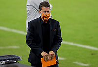 CARSON, CA - OCTOBER 28: Head coach Tab Ramos of the Houston Dynamo during a game between Houston Dynamo and Los Angeles FC at Banc of California Stadium on October 28, 2020 in Carson, California.