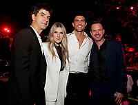"""LOS ANGELES - OCTOBER 26: (L-R) Hamish Linklater, Lily Rabe, Cheyenne Jackson, and Jason Landau attend the red carpet event to celebrate 100 episodes of FX's """"American Horror Story"""" at Hollywood Forever Cemetery on October 26, 2019 in Los Angeles, California. (Photo by John Salangsang/FX/PictureGroup)"""