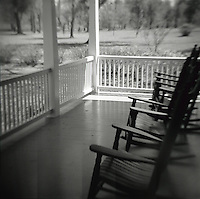 Rockers on a low country porch.