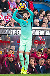 Gerard Pique Bernabeu of FC Barcelona in action during their La Liga match between Atletico de Madrid and FC Barcelona at the Santiago Bernabeu Stadium on 26 February 2017 in Madrid, Spain. Photo by Diego Gonzalez Souto / Power Sport Images