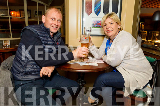 Karen and Fergus Bailey enjoying the evening in the Mall Tavern on Saturday.