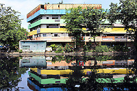A multi colored building in Jakarta.<br />