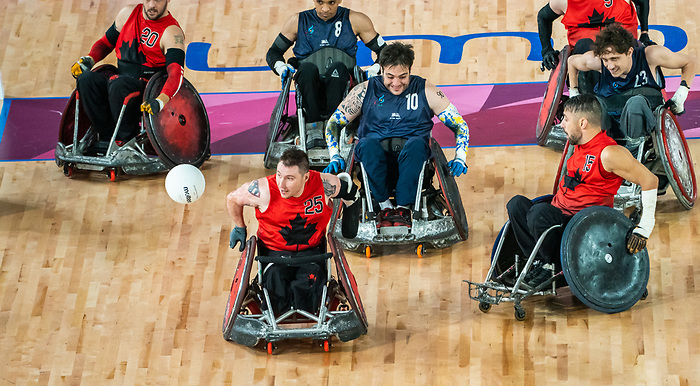 Shayne Smith, Lima 2019 - Wheelchair Rugby // Rugby en fauteuil roulant.<br /> Canada takes on Argentina in wheelchair rugby // Le Canada affronte l'Argentine au rugby en fauteuil roulant. 23/08/2019.
