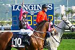 SHA TIN,HONG KONG-DECEMBER 10: Beauty Generation,ridden by Derek Leung, after winning the Hong Kong Mile at Sha Tin Racecourse on December 10,2017 in Sha Tin,New Territories,Hong Kong (Photo by Kaz Ishida/Eclipse Sportswire/Getty Images)