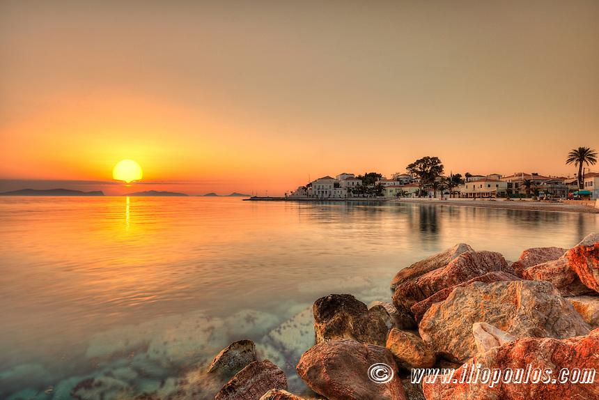 Sunrise from Spetses island, Greece