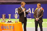 18-12-10, Tennis, Rotterdam, Reaal Tennis Masters 2010, Speaker Robert Reimering en Hendrik-Jan Davids