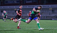 Friday 6th March 2020 | Armagh RFC vs Ballynahinch RFC<br /> <br /> Ross Adair races clear to score during the Bank Of Ireland Ulster Senior Cup Final between the City of Armagh RFC and Ballynahinch RFC at Kingspan Stadium, Ravenhill Park, Belfast, Northern Ireland. Photo by John Dickson / DICKSONDIGITAL