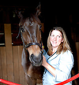 Brianne Slater and Tax Ruling in the morning at the barns.