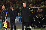 Norwich City 1 Manchester United 0, 17/11/2012. Carrow Road, Premier League. Manchester United manager Sir Alex Ferguson and opposite number Chris Hughton watching the first-half action at Carrow Road stadium, home of Norwich City during a Barclays Premier League fixture. The home team won the match by one goal to nil watched by a crowd of 26,840. It was Norwich City's first victory against Manchester United since 2005. Photo by Colin McPherson.