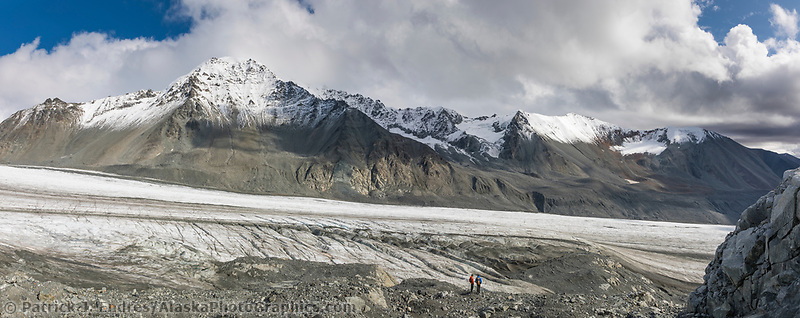 Landscape of Gulkana Glacier in the Alaska Range mountains, Interior, Alaska.