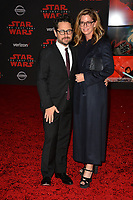 """J.J. Abrams & Katie McGrath at the world premiere for """"Star Wars: The Last Jedi"""" at the Shrine Auditorium. Los Angeles, USA 09 December  2017<br /> Picture: Paul Smith/Featureflash/SilverHub 0208 004 5359 sales@silverhubmedia.com"""
