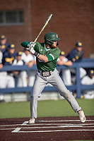 Eastern Michigan Eagles outfielder Jeff Timko (7) at bat during the NCAA baseball game against the Michigan Wolverines on May 8, 2019 at Ray Fisher Stadium in Ann Arbor, Michigan. Michigan defeated Eastern Michigan 10-1. (Andrew Woolley/Four Seam Images)