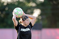 Rebecca Moros (38) of the Western New York Flash. The Western New York Flash defeated Sky Blue FC 4-1 during a Women's Professional Soccer (WPS) match at Yurcak Field in Piscataway, NJ, on July 30, 2011.