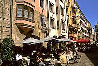 Street scene in Old Town in Innsbruck Austria