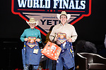 Chase Helton, Brock Grashius, during the Team Roping Back Number Presentation at the Junior World Finals. Photo by Andy Watson. Written permission must be obtained to use this photo in any manner.