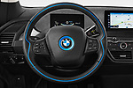 Car pictures of steering wheel view of a 2018 BMW i3 S 5 Door Hatchback