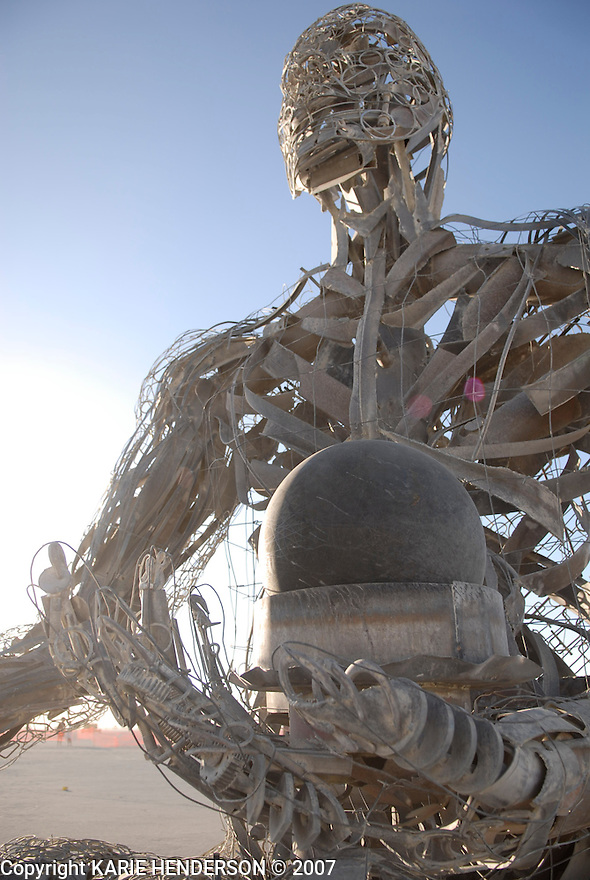 Crude Awakening, an art piece by Karen Cusolito, Dan Das Mann and Mark Perez for the 2007 Burning Man annual event held in Black Rock Desert, Nevada. Photo by, Karie Henderson © 2007