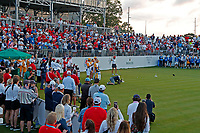 5th September 2021; Toledo, Ohio, USA;  Lexi Thompson of Team USA plays her tee shot at the first hole during the morning Four-Ball competition during the Solheim Cup on September 5th