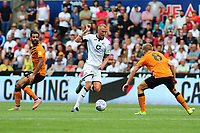 Mike van der Hoorn of Swansea City in action during the Sky Bet Championship match between Swansea City and Hull City at the Liberty Stadium in Swansea, Wales, UK. Saturday 03 August 2019