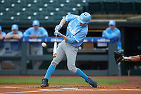 Brian Miller (5) of the North Carolina Tar Heels at bat against the Boston College Eagles in Game Five of the 2017 ACC Baseball Championship at Louisville Slugger Field on May 25, 2017 in Louisville, Kentucky. The Tar Heels defeated the Eagles 10-0 in a game called after 7 innings by the Mercy Rule. (Brian Westerholt/Four Seam Images)