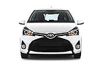 Car photography straight front view of a 2015 Toyota YARIS Dynamic 5 Door Hatchback 2WD Front View